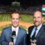 Joe Buck and John Smoltz at Wrigley Field for the 2016 World Series