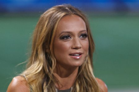 Kate Abdo on Set