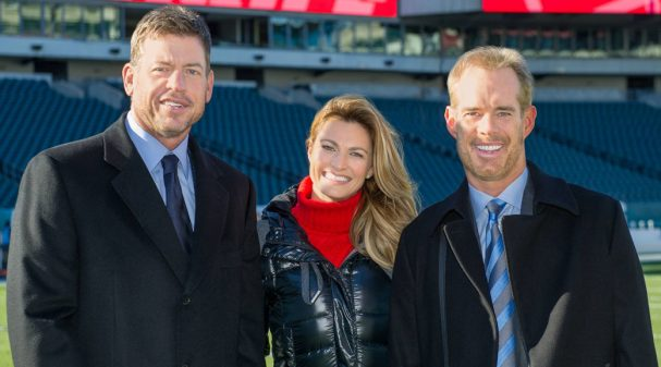 Troy Aikman, Erin Andrews and Joe Buck