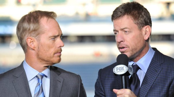 Joe Buck and Troy Aikman in the Broadcast Booth