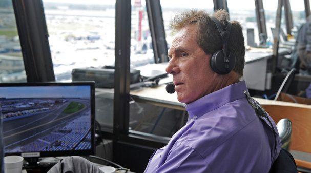 Darrell Waltrip in the Daytona International Speedway Broadcast Booth