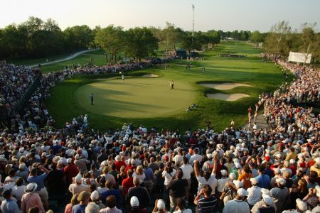 general view of the final putt