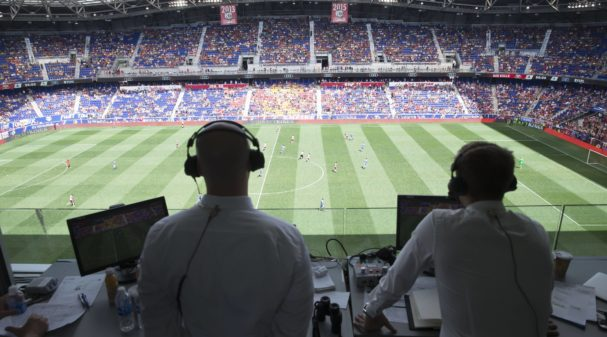 John Strong and Stu Holden in the Booth