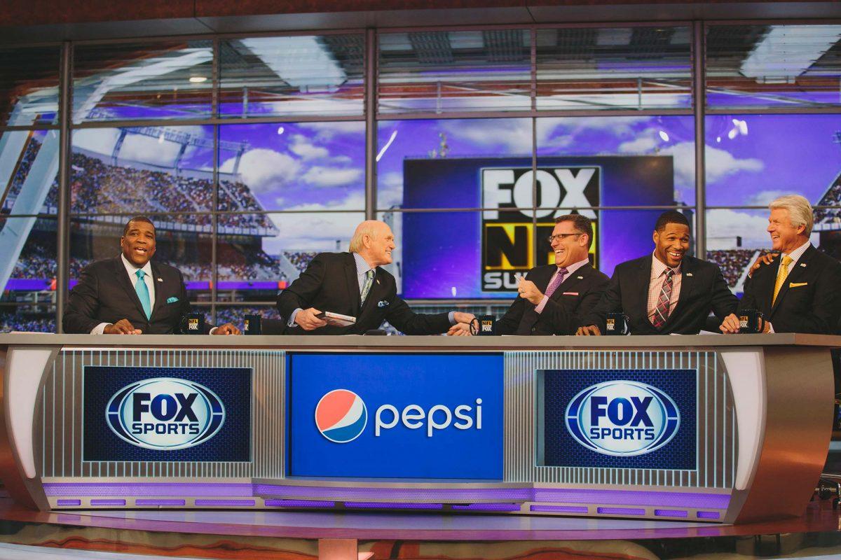 on the set of FOX NFL SUNDAY