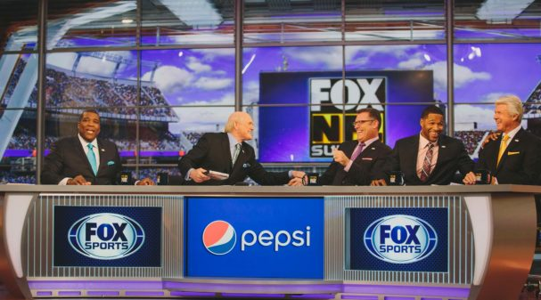 on the set of FOX NFL SUNDAY