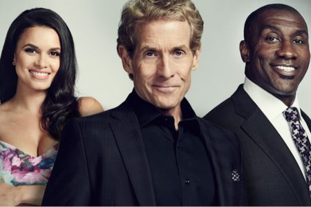 Joy Taylor, Skip Bayless and Shannon Sharpe