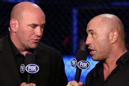 Dana White and Joe Rogan during FOX UFC Coverage