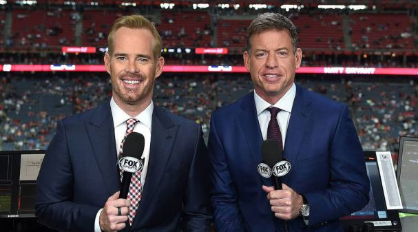 Joe Buck & Troy Aikman at Super Bowl LI