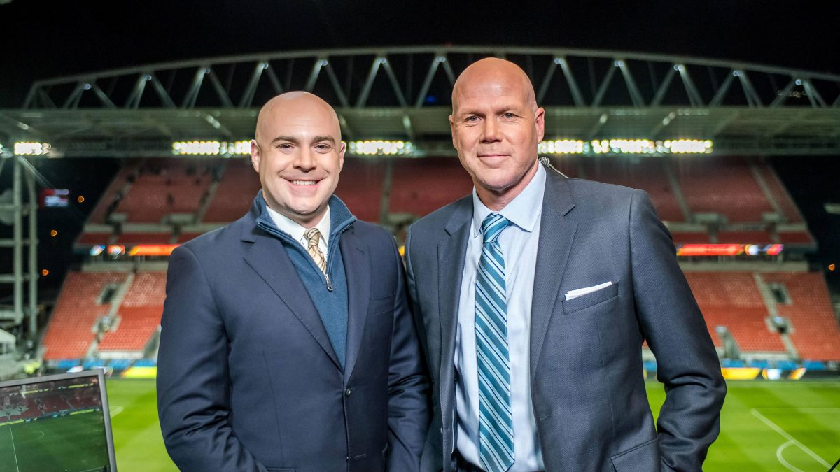 John Strong and Brad Friedel at 2016 MLS Cup