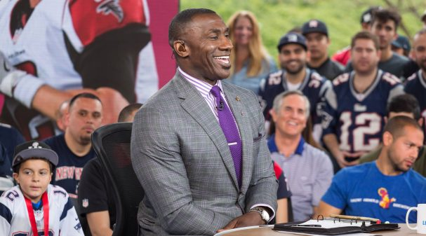 Shannon Sharpe at Super Bowl LI