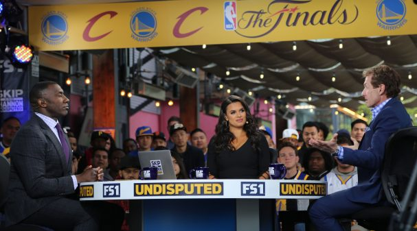 Shannon Sharpe, Joy Taylor and Skip Bayless on UNDISPUTED at the 2017 NBA Finals