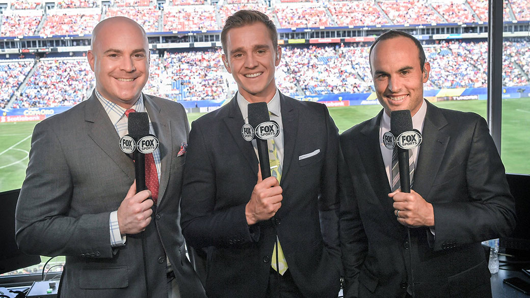 John Strong, Stu Holden and Landon Donovan