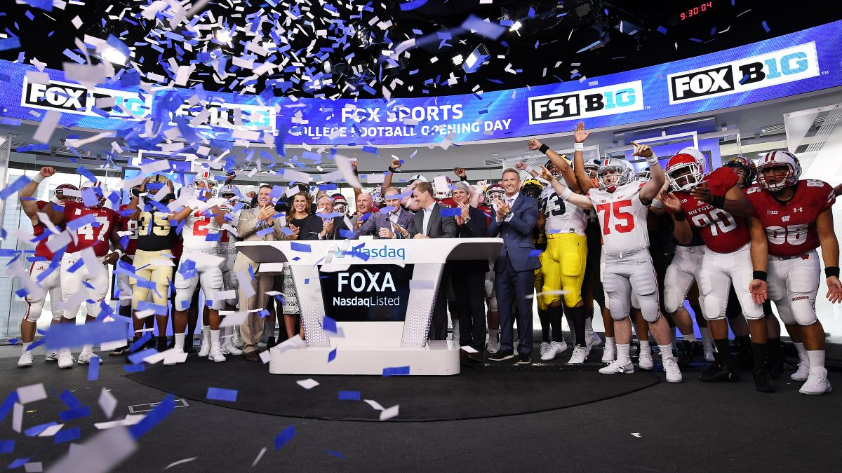 FOX Sports and Big Ten Executives Ring the NASDAQ Opening Bell