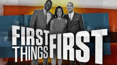 Cris Carter, Jenna Wolfe and Nick Wright