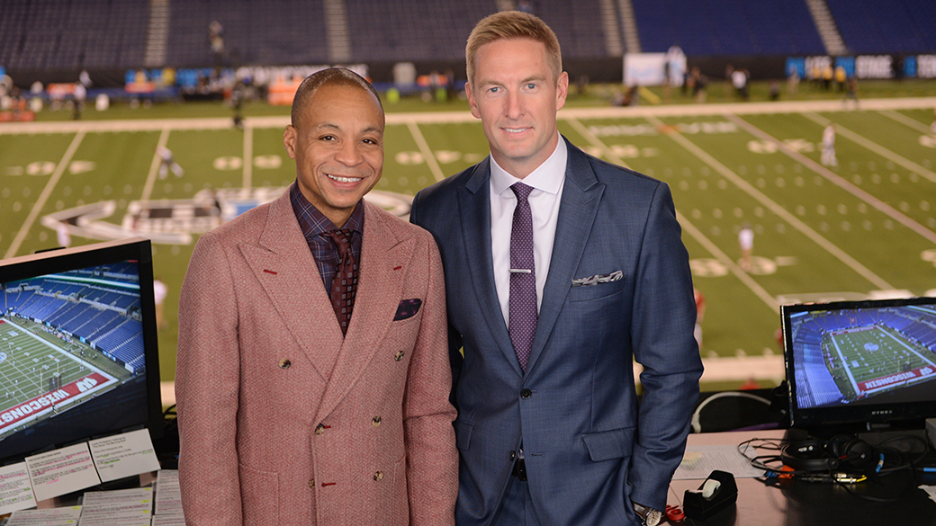 Gus Johnson and Joel Klatt at 2017 Big Ten Championship Game