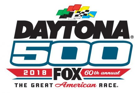 2018 Daytona 500 on FOX Logo