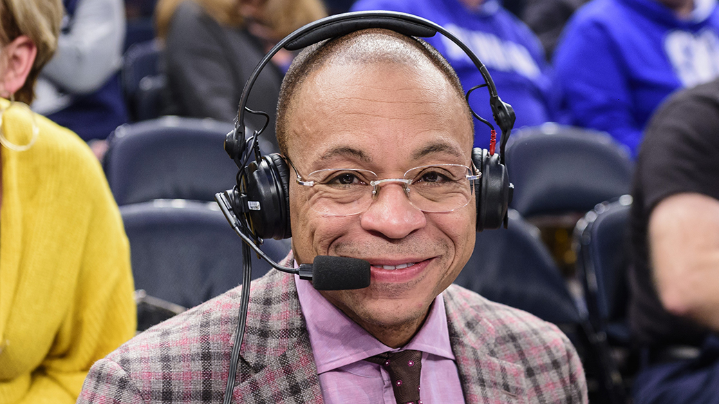 Gus Johnson at the 2018 BIG EAST Tournament
