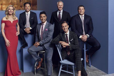 Left to Right: Aly Wagner, Cobi Jones, Mariano Trujillo, Warren Barton, Stu Holden, Tony Meola