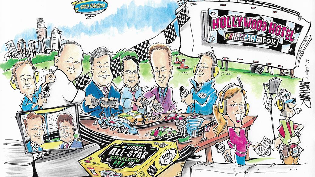 2018 FOX NASCAR Monster Energy All-Star Race Broadcast Team