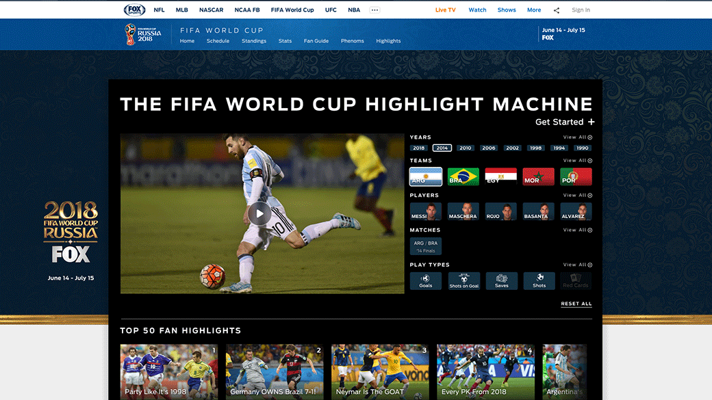 FOX Sports Unveils Robust 2018 FIFA World Cup Russia™ Digital Offerings | Fox Sports PressPass