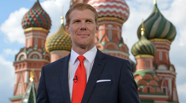 Alexi Lalas at 2018 FIFA World Cup Russia™ Studio in Moscow's Red Square
