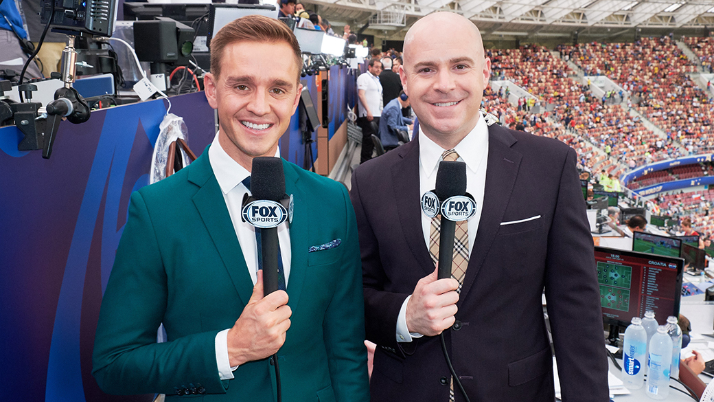 Stu Holden and John Strong at 2018 FIFA World Cup Russia™ Final