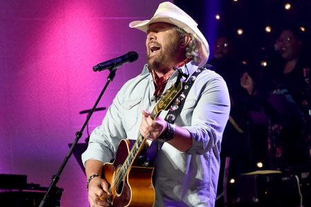 NASHVILLE, TN - AUGUST 24:  Toby Keith performs onstage during Skyville Live Presents a Tribute to Jerry Lee Lewis on August 24, 2017 in Nashville, Tennessee.  (Photo by Rick Diamond/Getty Images for Skyville)