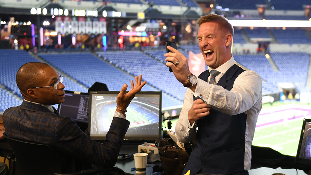 Gus Johnson and Joel Klatt at the 2018 Big Ten Championship Game