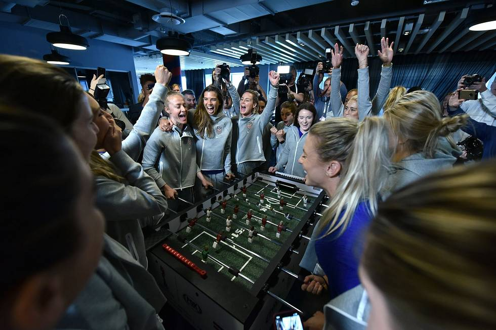 Foosball Table Cheering