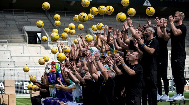 MOENCHENGLADBACH, GERMANY - AUGUST 01: Impressions during the team presentation at Borussia-Park on August 01, 2019 in Moenchengladbach, Germany.  at Borussia-Park on August 01, 2019 in Moenchengladbach, Germany. (Photo by Christian Verheyen/Borussia Moenchengladbach via Getty Images)