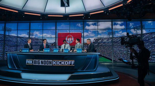 Rob Stone, Brady Quinn, Reggie Bush, Matt Leinart and Urban Meyer on BIG NOON KICKOFF