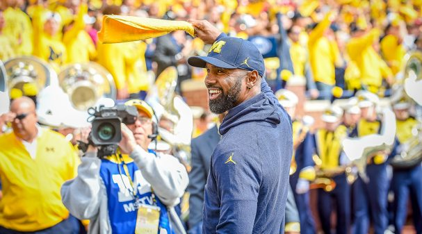 ANN ARBOR, MI - SEPTEMBER 22: Former Michigan Wolverines and NFL star Charles Woodson prior to the Michigan Wolverines versus Nebraska Cornhuskers game on Saturday September 22, 2018 at Michigan Stadium in Ann Arbor, MI. (Photo by Steven King/Icon Sportswire via Getty Images)