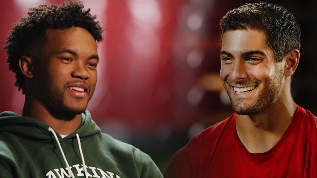 FOX-NFL-THURSDAY_Murray-and-Garoppolo_NO-LOGO