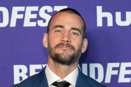 "HOLLYWOOD, CALIFORNIA - OCTOBER 01: Phil ""CM Punk"" Brooks attends the Beyond Fest Premiere Of ""Girl On The Third Floor""at the Egyptian Theatre on October 01, 2019 in Hollywood, California. (Photo by John Wolfsohn/Getty Images)"