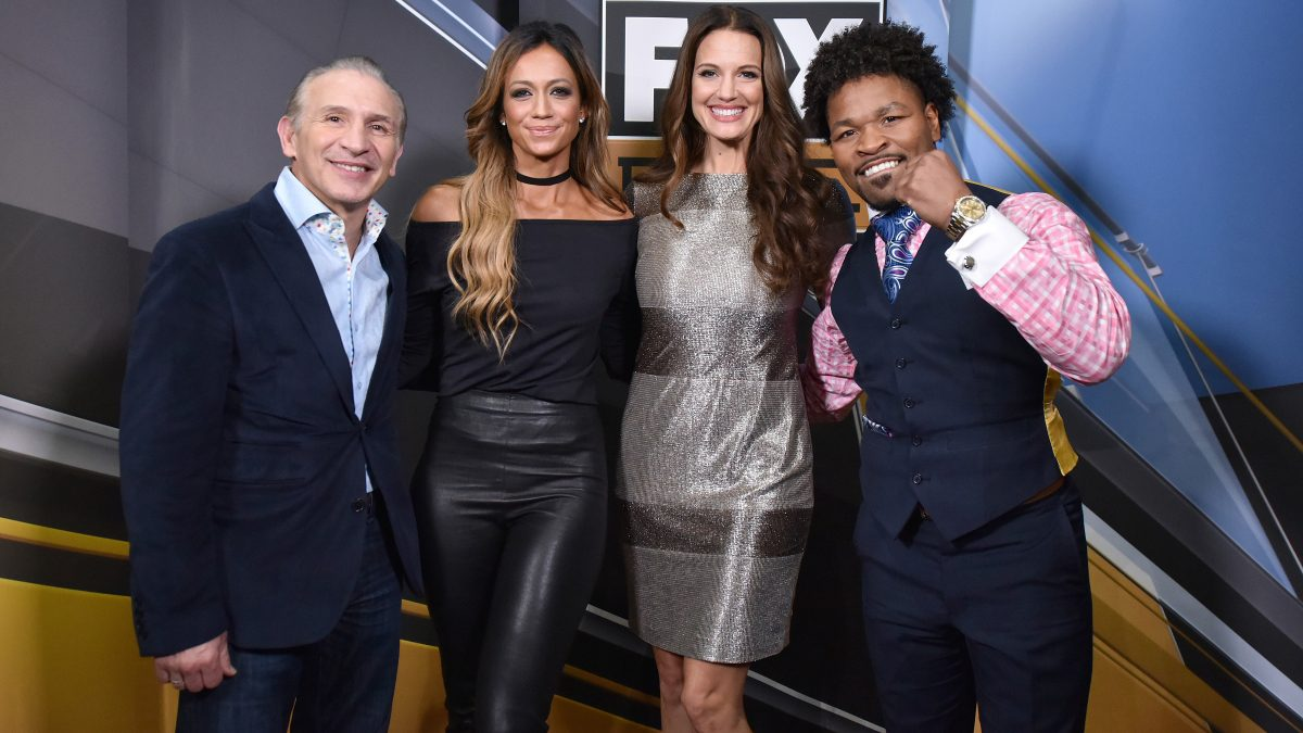 BROOKLYN, NY - DECEMBER 21: Sports broadcast commentators Ray Mancini, Kate Abdo, Heidi Androl and Shawn Porter attend the Fox Sports and Premier Boxing Champions official weigh-in for the December 22 Fox PBC Fight Night at the Barclay Center on December 21, 2018 in Brooklyn, New York. (Photo by Anthony Behar/Fox Sports/PictureGroup)