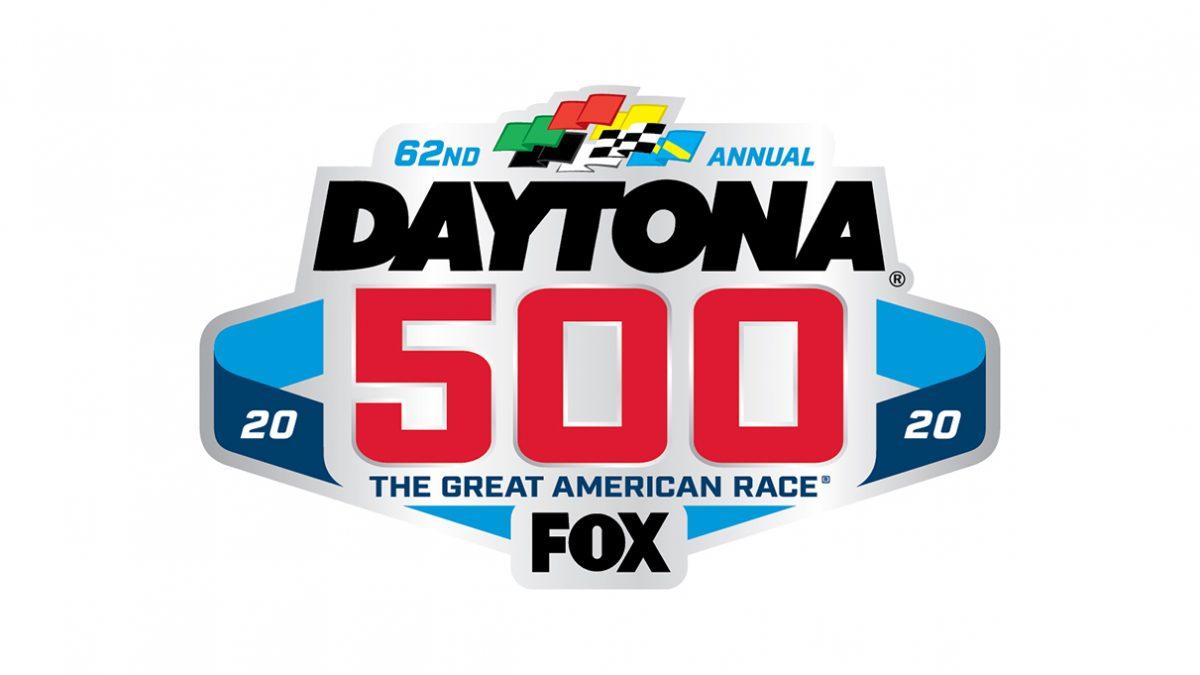 2020 Daytona 500 on FOX Logo