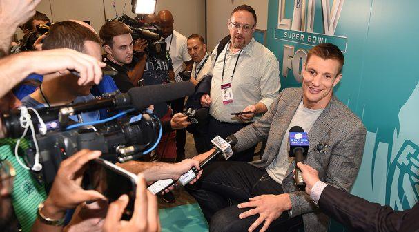 Rob Gronkowski at FOX Sports Super Bowl LIV Media Day