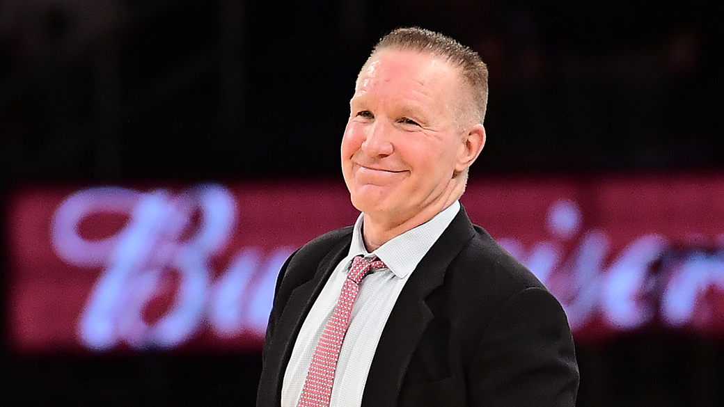 NEW YORK, NY - MARCH 07:  Head coach Chris Mullin of the St. John's Red Storm reacts to the referee against the Georgetown Hoyas during the first round of the Big East tournament at Madison Square Garden on March 7, 2018 in New York City. The St. John's Red Storm defeated the Georgetown Hoyas 88-77.  (Photo by Steven Ryan/Getty Images)