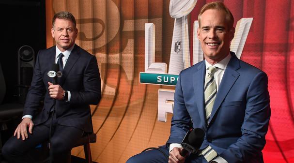 Troy Aikman and Joe Buck at Hard Rock Stadium