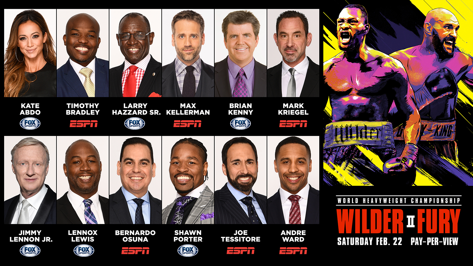 Fox Sports And Espn Offer Extensive Wilder Vs Fury Fight Week Programming Fox Sports Presspass