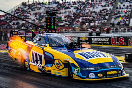 Aug 31, 2019; Clermont, IN, USA; NHRA  US Nationals at Lucas Oil Raceway. Credit: William Hauser-FOX Sports